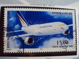 """1960...-POSTE AERIENNE, Oblit, Timbre N° 63     """"airbus A 300  """"cote   1 Net  0.30      - Dents  13x12.5 - Poste Aérienne"""