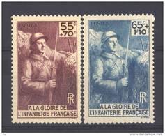 France  :  Yv  386-87  **                      ,       N3 - France