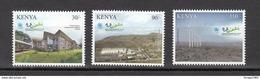 2012 Kenya UNEP 40th Anniversary Series Three (most Difficult) Green Wind Farm Geothermal Energy Cpl Set Of 3 MNH - Kenya (1963-...)