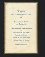 MENU SOUPER Du TRAIN SPECIAL Depart HENDAYE Vers PARIS. Visite Du Roi D.Carlos De Portugal. Royalty RAILWAY FRANCE - Menus