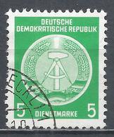 German Democratic Republic 1954. Scott #O1 (U) Arms Of Republic * - Service