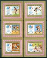 North Yemen, 1985, Summer Olympic Games, 6 Lux Blocks Imperforated - Summer 1984: Los Angeles