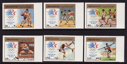 North Yemen, 1985, Summer Olympic Games, 6 Stamps Imperforated - Summer 1984: Los Angeles