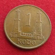 Nigeria 1 Kobo 1974 KM# 8.1 Error Defect Defeito - Nigeria