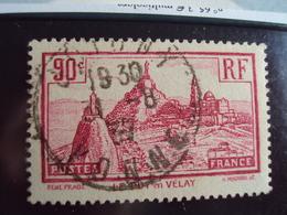 """1900-1945-timbre Oblitéré N°  290   """" Puy En Velay      """"     Cote    1.10     Net   0.35     Signé Au Dos - Oblitérés"""
