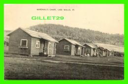 LAKE WALLIS, VT - MARSHALL'S CAMPS - ANIMATED - PUB. BY BISSEE PRESS - - Etats-Unis