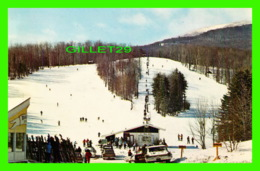 STOWE, VT - TOOL HOUSE T-BAR, IN WINTER, MT MANSFIELD - ANIMATED - KOPPEL COLOR CARDS - - Etats-Unis