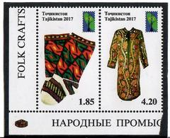 Tajikistan. 2017 RCC. Folk Craft. Pair Of 2v: 1.85, 4.20 Michel # 759-60A - Tadjikistan