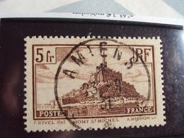 """1900-1945-timbre Oblitéré N° 260  Type II    """"  Mont St Michel     """"     Cote     0.80    Net     0.20 - France"""