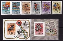 Libya, 1984, Summer Olympics, Football, 6 Stamps, 2 Blocks Imperforated - Summer 1984: Los Angeles