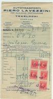 """"""" LAVEZZINI AUTOTRASPORTI"""" PARMA,  FATTURA ,2 GENNAIO 1941 , CON MARCA DA BOLLO, - Italia"""