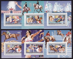 Guinea, 1985, Summer Olympics 1984, Medalists, 6 Lux Blocks - Summer 1984: Los Angeles
