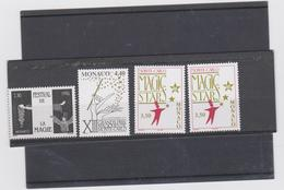MONACO 4 T Neufs Xx Festival De La Magie 1996 à 1999 N° YT 2027 2125 2174 2219 - Monaco