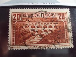 """1900-1945-timbre Oblitéré N° 262 A    """" Pont Du Gard      """"     Cote   45      Net   15 - France"""