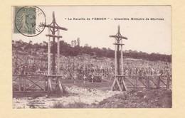 """CPA - GLORIEUX - Le Cimetiére Militaire - """" La Bataille De Verdun """" - Tombe De Poilu - WW1 Grande Guerre - France"""