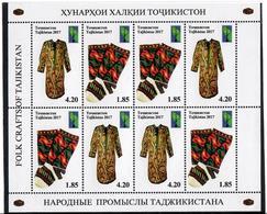 Tajikistan. 2017 RCC. Folk Craft. Sheetlet Of 4 Pairs. Michel # 759-60A  KB - Tadjikistan