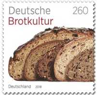 2018 Germany /BRD - German Bread Culture / Deutsche Brotkultur - 1 V MNH** MI 3355 Paper - Ernährung