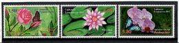 Tajikistan.2017 Flowers And Butterflies. 3v: 3.50, 4.50, 5.80 Michel # 764-66A - Tadjikistan