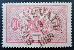 1885 Suède Yt:SE S5(A, Mi:SE D5Ba,  Service, Big Format . Belle Oblitération 1889 SUNDSVALL - Sweden