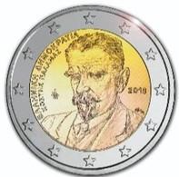 Pièce De 2 Euros Commémorative  Grèce 2018 : Kostis Palamas - Grèce