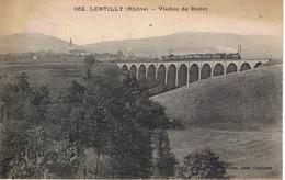 LENTILLY 1924 Viaduc De Buvet Passage Du Train CPA - Other Municipalities