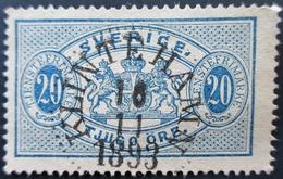 1893 Suède  Yt:SE S17 , Mi:SE D15,  Service, Big Format . Belle Oblitération 1893 KLINTEHAMN - Sweden