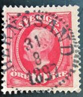 1891 Suède Mi:SE 43, Sn:SE 58, Yt:SE 43 . King Oscar II . Belle Oblitération 1897 - Sweden