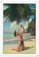REPUBBLICA DOMINICANA -CAYO LEVANTADO-TOPLESS GIRL ON THE BEACH/SEINS NUS-BREASTS NUDE/THEMATIC STAMP-POPE JOHN PAUL II - Repubblica Dominicana