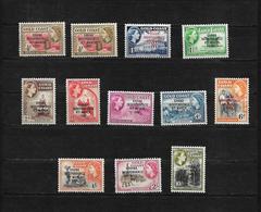Ghana, 1957 Gold Coast Optd QEII Set Complete MM Except 5/- (7276) - Ghana (1957-...)