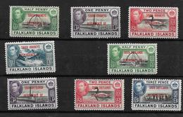 Falkland Island Dependencies, KGVI 1944 Optd Small Selection  MNH/MM (7278) - Falkland Islands