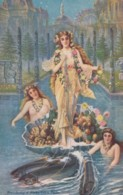 1909 Alaska-Yukon Pacific Expostion, Hillard Artist Signed Image Woman Salmon Promotion, C1900s Vintage Postcard - Exhibitions