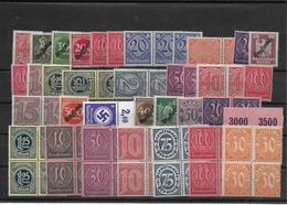 Deutsches Reich Lot Infla - Dienstzegels