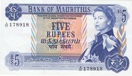 MAURICE - FIVE  RUPEES  - 5 RUPEES -  NEUF - Mauricio