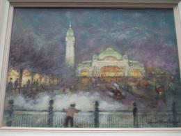 Peinture Gare De Limoges Titre Réminiscence Du Peintre Claude Chantereau - Autres Collections