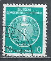 German Democratic Republic 1954. Scott #O4 (U) Arms Of Republic * - Service