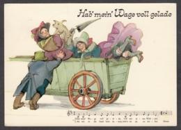 94101/ Illustrateur Tomi UNGERER, Volkslieder-Kunstkarten Serie A - Künstlerkarten