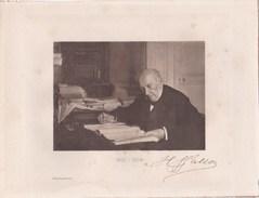 Photo Sur Carton, Henri Wallon (1812-1904) Historien Et Homme Politique Né à Valenciennes (59) - Hélio Dujardin Dédicace - Dédicacées