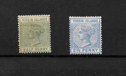 British Virgin Islands QV 1883 Mint Selection* (7296) - Iles Vièrges Britanniques