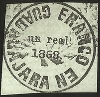 J) 1868 MEXICO, GUADALAJARA PROVISSIONAL, 1 REAL, GREEN, XF - Mexico