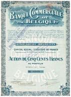 Ancienne Action - Banque Commerciale De Belgique Société Anonyme - Titre De 1919 - N° 03939 - Banque & Assurance