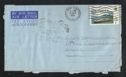 Hong Kong China 1983 Air Mail Postal Used Aerogramme Cover HongKong To Pakistan - Hong Kong (1997-...)