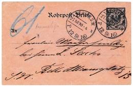 Rohrpost Pneumatique Berlin Deutschland Reich Post Allemagne - Duitsland