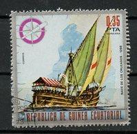 Guinée Equatoriale - Guinea 1975 Y&T N°(2) - Michel N°(?) (o) - 0,35p Navire Des Croisés - Equatorial Guinea