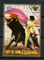 Guinée Equatoriale - Guinea 1975 Y&T N°(4) - Michel N°(?) (o) - 0,80e Corrida - Equatorial Guinea
