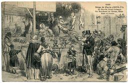 Siège De PARIS (1870 1871) Au Marché Saint Germain Un Marchand De Chiens Chats Rats Et Souris (Illustrateur) - Otros
