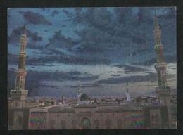 Saudi Arabia Silver Shining Picture Postcard Holy Mosque Medina  View Card - Saudi Arabia