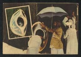 Saudi Arabia Old Picture Postcard Pilgrims Kiss The Holy Black Stone Mecca View Card - Saudi Arabia