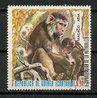 Guinée Equatoriale - Guinea 1976 Y&T N°(6) - Michel N°(?) (o) - 0,40p Macaque - Equatorial Guinea