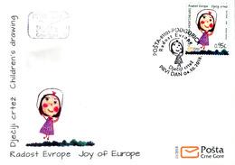 2018 Fdc, Joy Of Europe, Children's Drawings, Montenegro, MNH - Montenegro