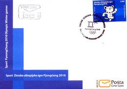 2018 FDC, Winter Olympic Games, PyeongChang, South Korea, Montenegro, MNH - Montenegro